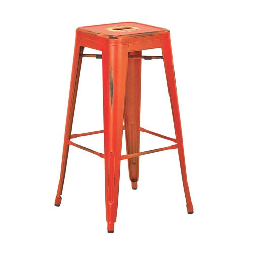 Bristow Antique Orange 30-Inch Barstool, Set of 4