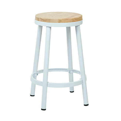 Office Star Products Bristow White 26 Inch High Metal Backless Barstool