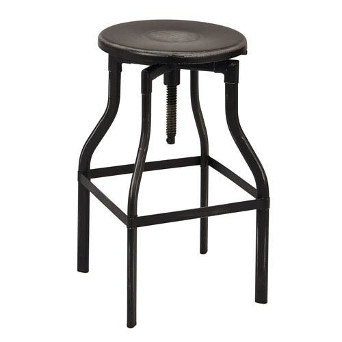 Eastvale Antique Black 30-Inch Metal Barstool