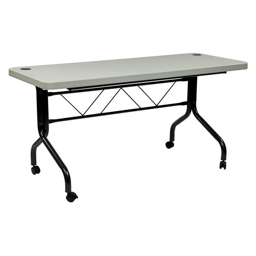 5 Ft. Resin Multi Purpose Flip Table with Locking Casters