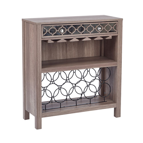 Greco Oak Wine Storage Console