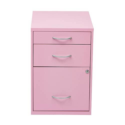 HPBF Pink Pencil Box Storage File Cabinet