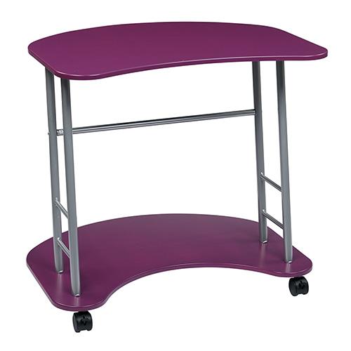 Office Star Products Kool Kolor Purple Computer Desk
