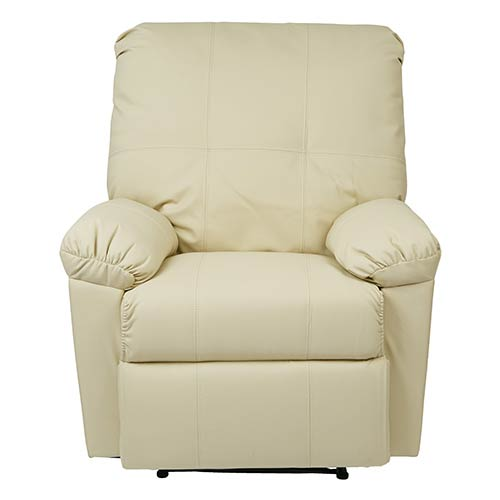 Office Star Products Kensington Cream Recliner