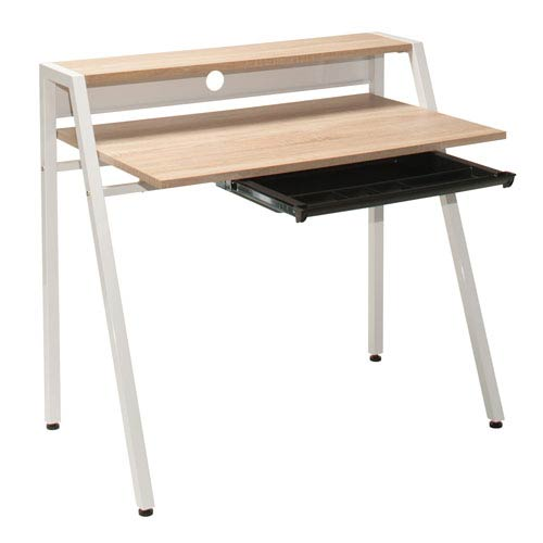 Office Star Products Kent Writing Desk In Light Driftwood Finish