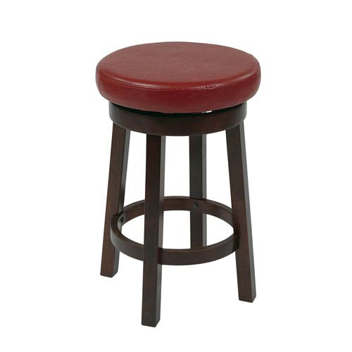 Office Star Products Metro Red 24 Inch Barstool