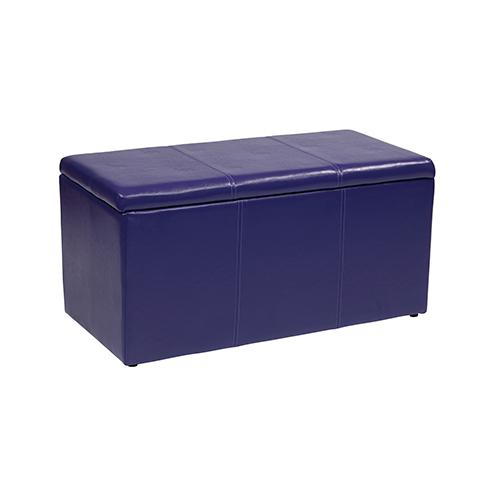 Office Star Products Metro Purple Vinyl Ottoman, Set of 3