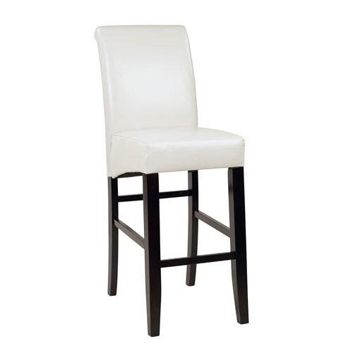 Office Star Products 30-Inch Parsons Barstool, Cream Fabric
