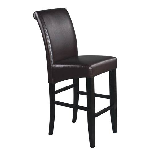 30-Inch Parsons Espresso Bonded Leather Barstool