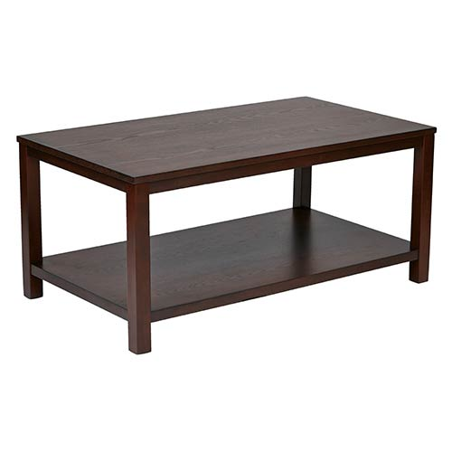 Office Star Products Merge Mahogany Rectangular Cocktail Table