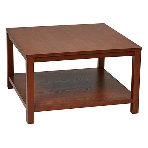 Office Star Products Merge Cherry Square Coffee Table