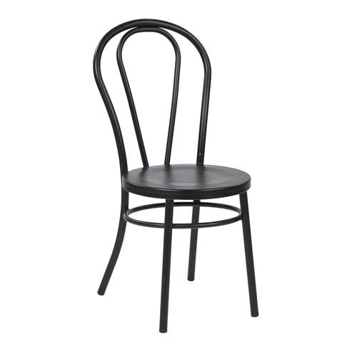 Office Star Products Odessa Black Metal Dining Chair Set Of 2