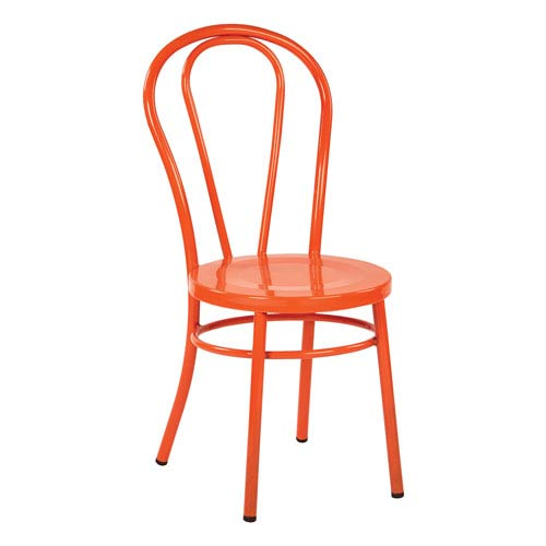 Odessa Orange Metal Dining Chair, Set of 2