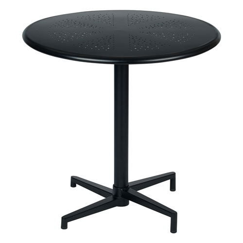 Oxton Matte Black 30-Inch Round Folding Table