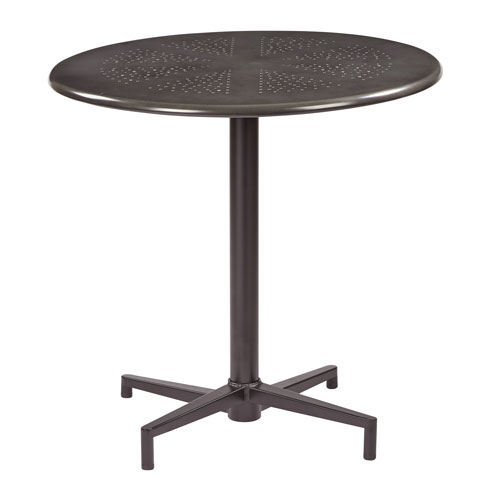 Oxton Matte Galvanized 30-Inch Round Folding Table
