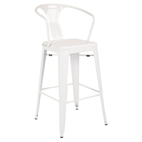 Patterson Cafe Stool in white, 4-Pack