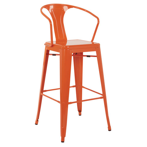 Patterson Cafe Stool in Orange, 4-Pack