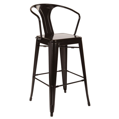 Patterson Cafe Stool in black, 4-Pack