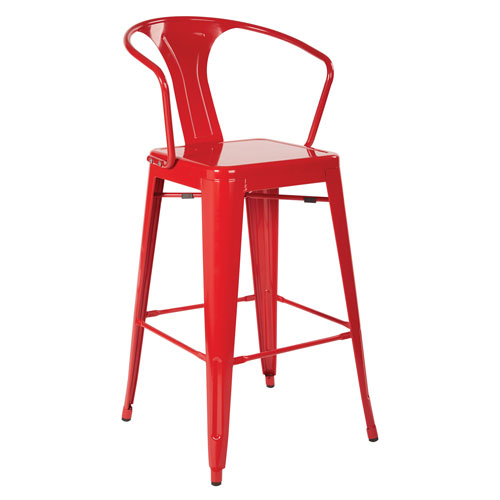 Patterson Cafe Stool in red, 4-Pack