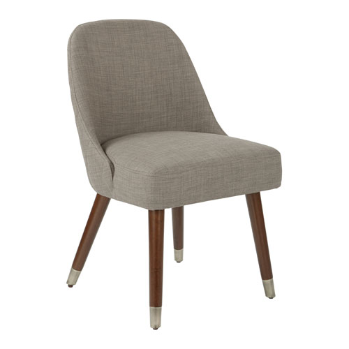 Jenna Dining Chair in Milford Dove with Coffee Finished Legs Set of 2