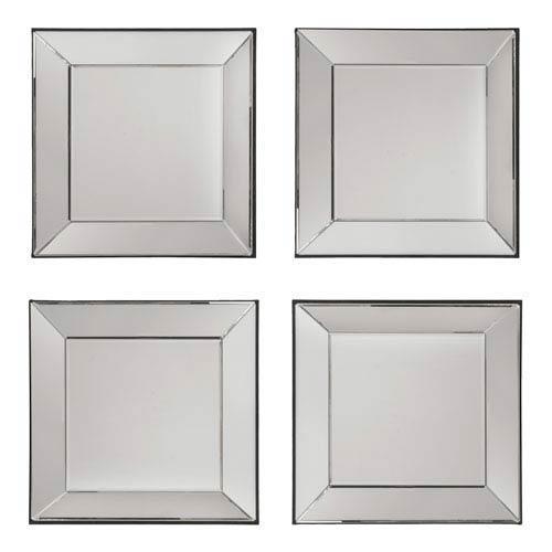 Silver 4 Piece Wall Mirror Set