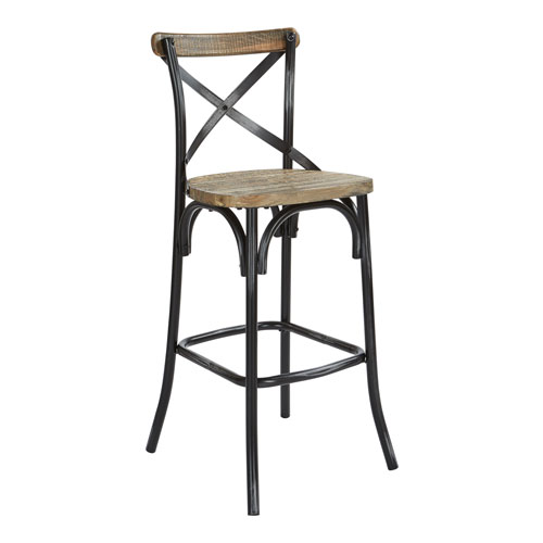 Somerset 30-Inch Bar Stool with Back in Antique Black