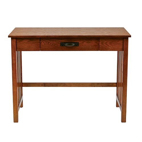Sierra Ash Writing Desk with Pull Out Drawer and Solid Wood Legs