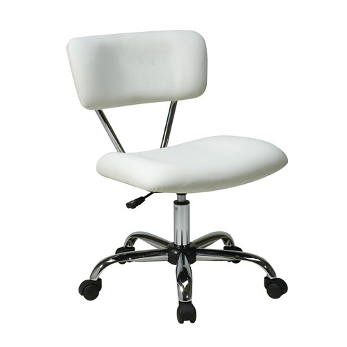 Vista White Vinyl Task Office Chair