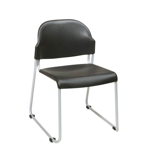 Stack Chair with Plastic Seat and Back