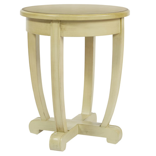Tifton Round Accent Table in Celadon Finish