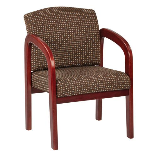Cherry Finish Wood Visitor Chair, Cocoa