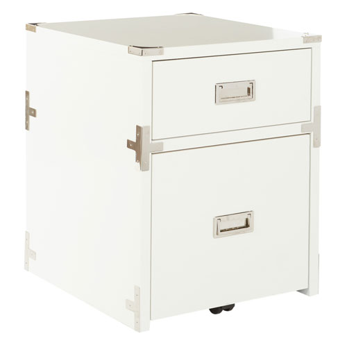 Wellington 2 Drawer File Cabinet in White ASM