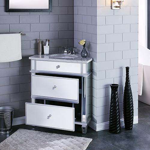 Abbington Matte Silver and Soft Gray Vanity Sink