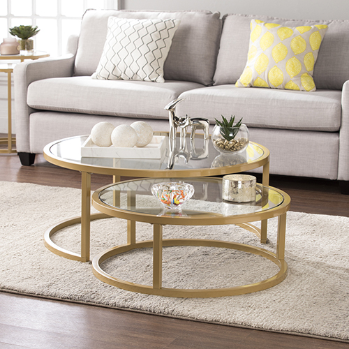 Evelyn Gold Cocktail Nesting Tables