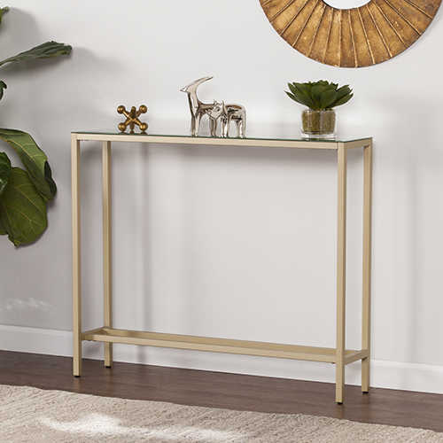 Darrin Metallic Gold 36-Inch Console Table