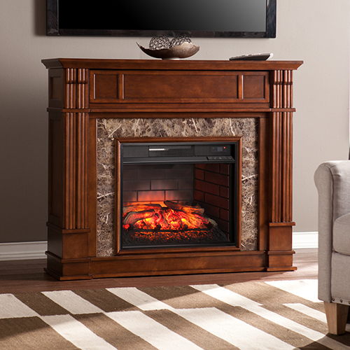 Highgate Whiskey Maple Infrared Fireplace