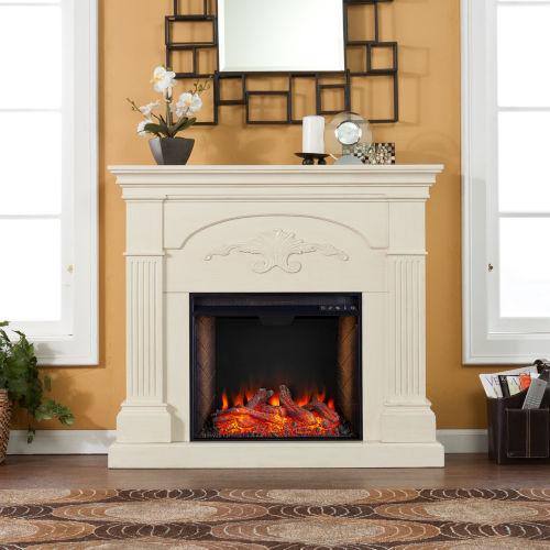Sicilian Ivory Smart Electric Fireplace