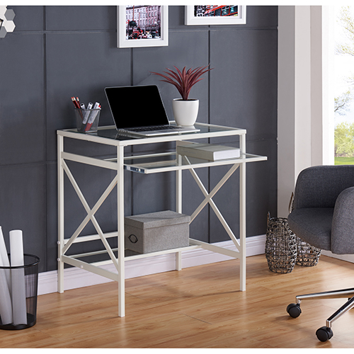 Elvan Fresh White Desk