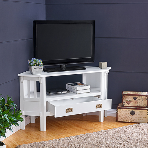 Carson White TV Stand/Media Stand