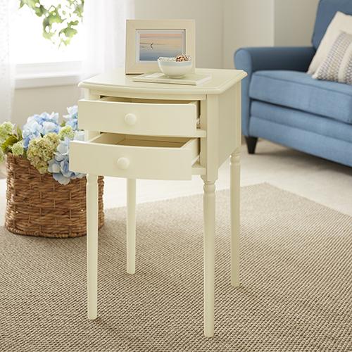 Avondale Antique White Accent Table