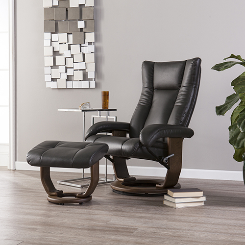 Michaelson Charcoal and Smoked Tobacco Chair