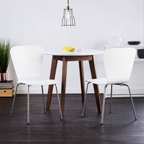 Cadby Bentwood Side Chairs - White, Set of 2