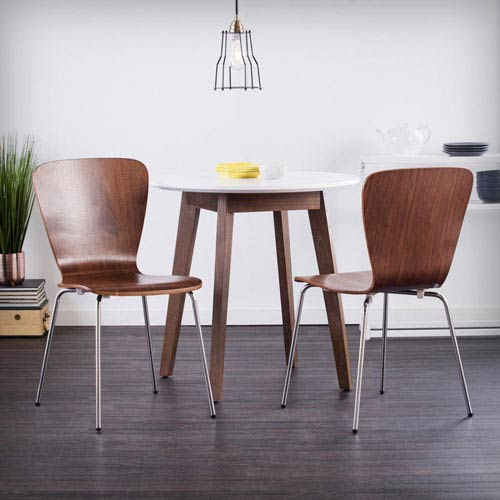 Holly & Martin Cadby Bentwood Side Chairs - Walnut, Set of 2