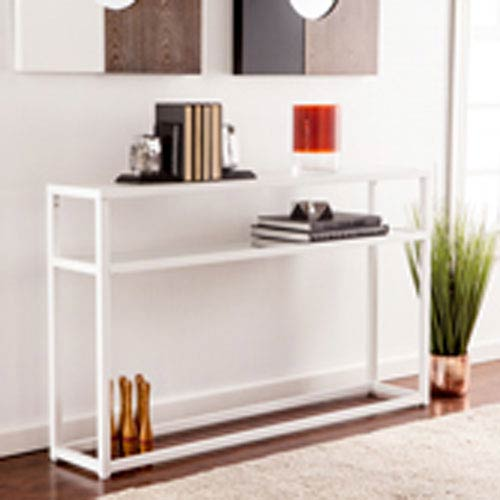 Baldrick Narrow Console Table - White