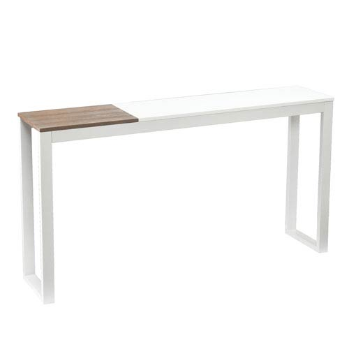 Lydock White Console Table
