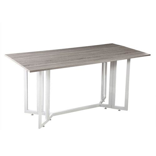 Driness Weathered Gray Drop Leaf Table