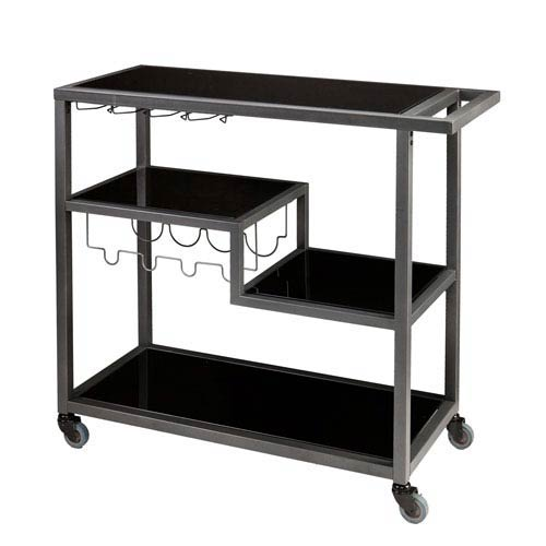 Zephs Gray and Black Bar Cart