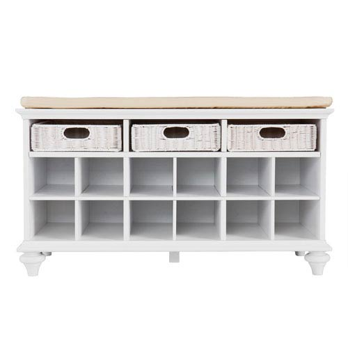 Southern Enterprises Chelmsford White Entryway Bench