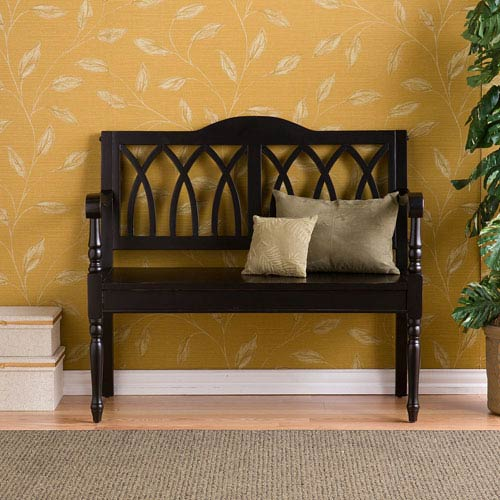 Surprising Black Granbury Black Bench Caraccident5 Cool Chair Designs And Ideas Caraccident5Info