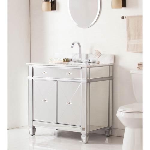 Mirage Double-Door Bath Vanity Sink with Marble Top